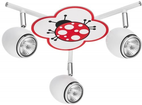 Lamp for a child Biedronka - Fly white / chrome LED 3x4,5W GU10