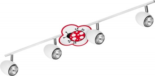 Lamp for a child Biedronka - Fly white / chrome LED 4x4,5W GU10
