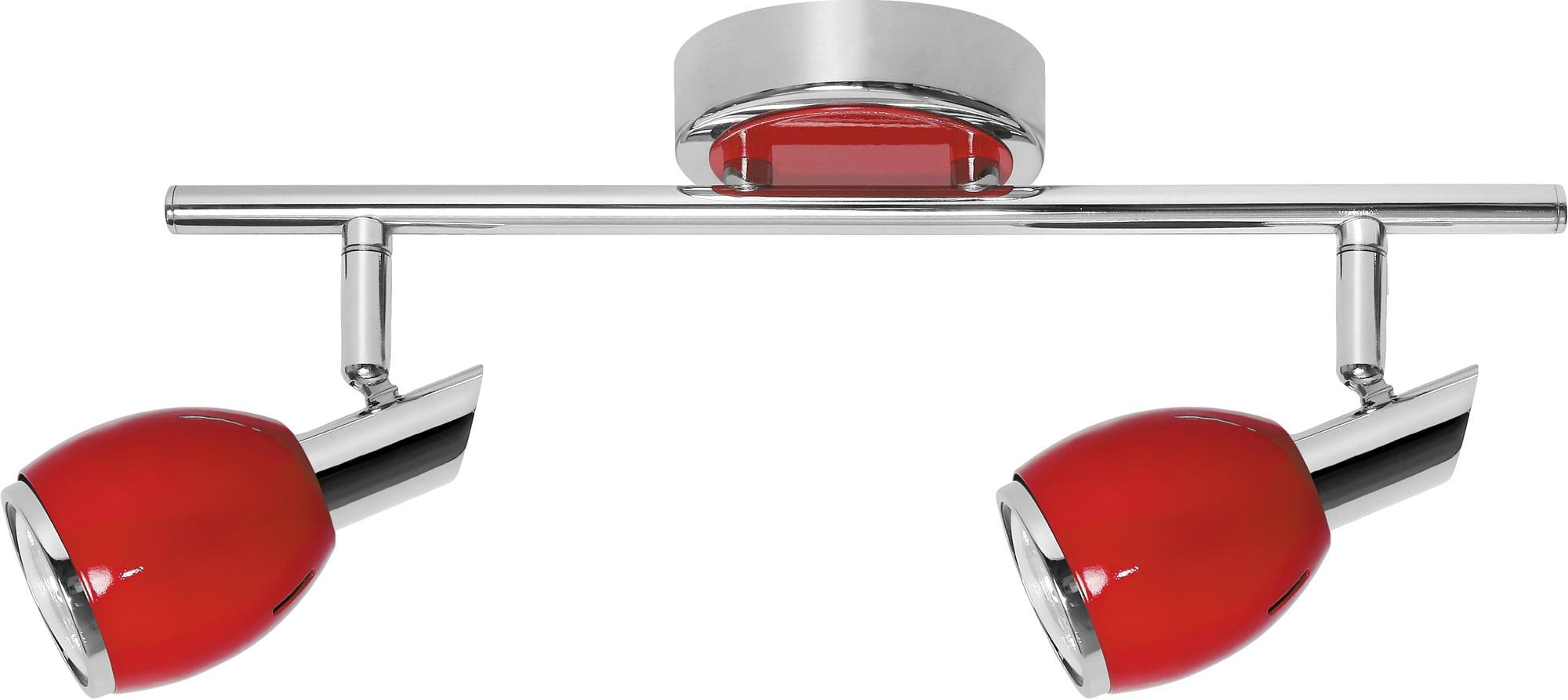 Strip Spot Double Red Colors Chrome GU10