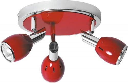 Ceiling Lights Red Colors Chrome GU10