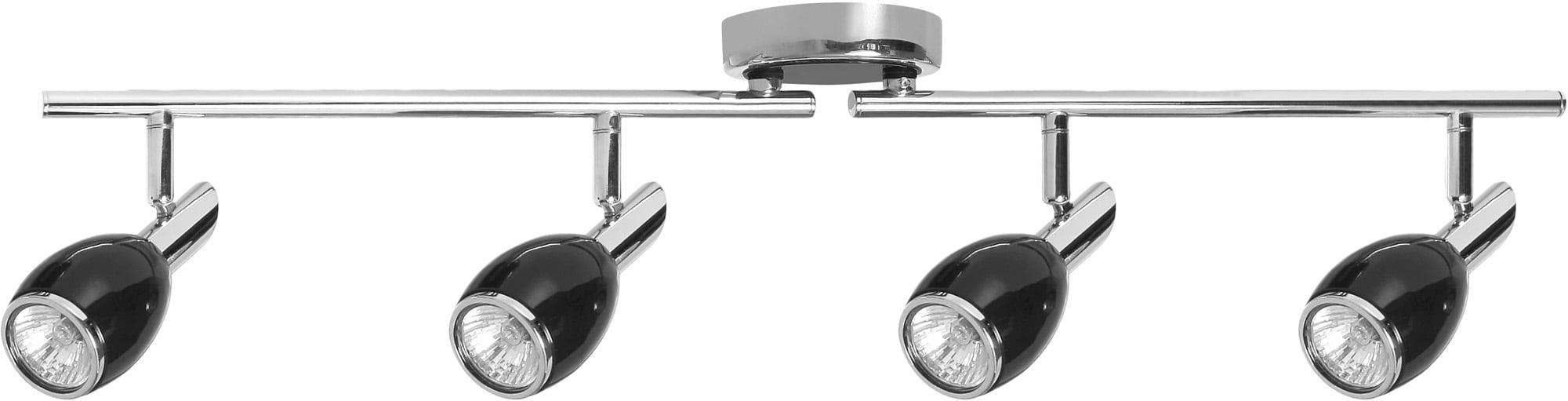 4-point Black LED GU10 Spotlights