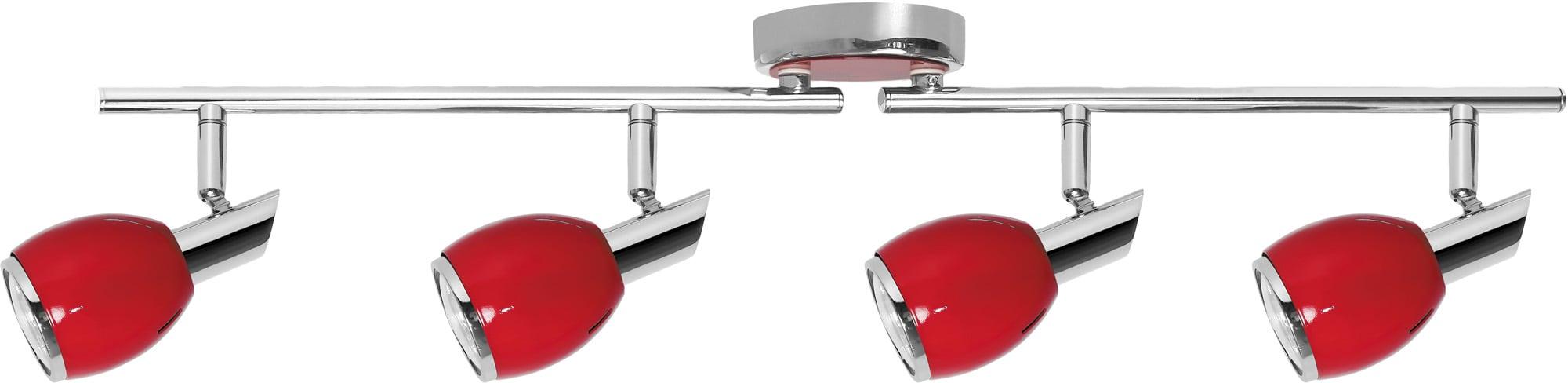 Reflectors Red LED Colors chrome 4x GU10
