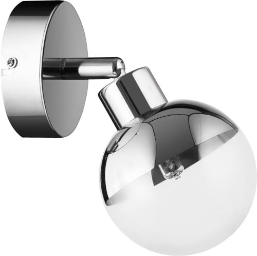 Glass Wall Lamp Chrome Ginos G9 28W