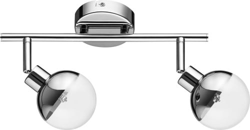 Ceiling lamp Two-armed Ginos Chrome Glass G9 28W