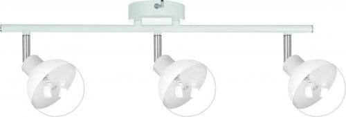 Glass reflector 3-point Ginos white / chrome G9 28W