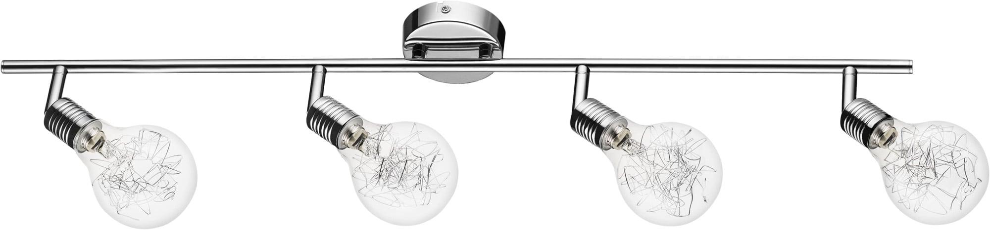 Plafon - 4-Bulbs Spotlight Bulbs Chromed G9 28W