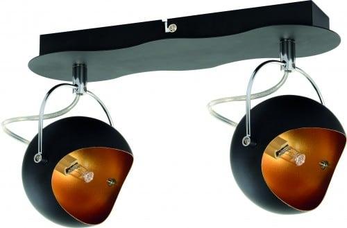Kana black and golden ceiling spotlights G9 28W