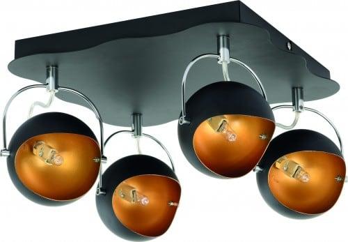 Ceiling lamp Plafon Kana black gold G9 28W