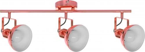 Spotlights in copper color, three-point Edit E27 60W