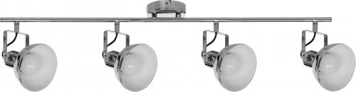 Réflexes - 4-point ceiling strip Edit chrome E27 60W