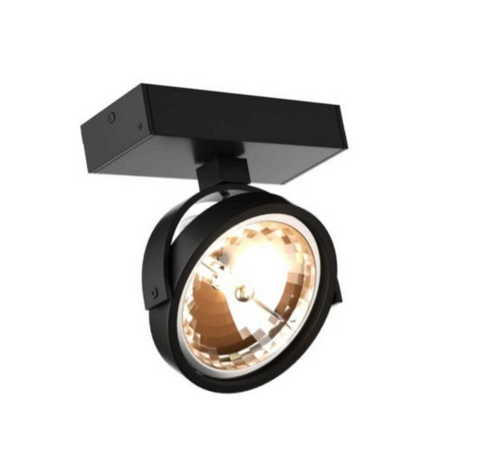 Romeone 1 black wall lamp