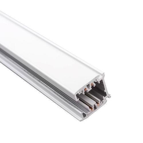 1m three-phase power track 230V aluminum white black