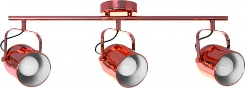 Spotlights Inga 3-point strip in Copper Color E27 60W