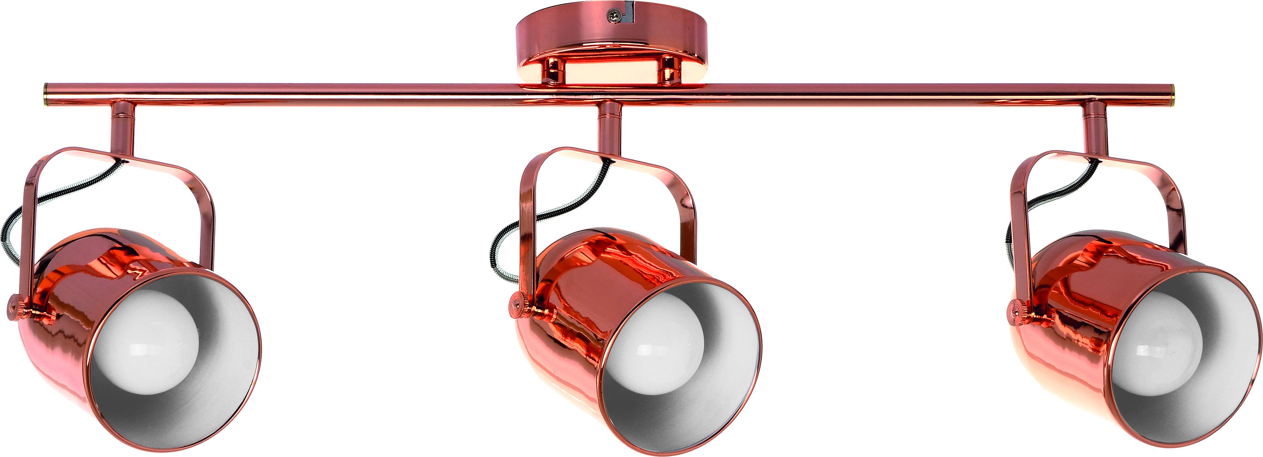 Spotlights Inga 3-point strip in Copper Color E27 60W