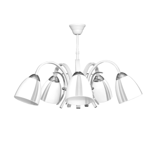 Ares 5 white chandelier