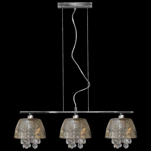 Ronin Crystal 3 graphite pendant lamp