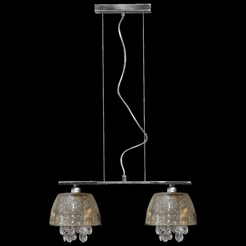 Ronin Crystal 2 graphite pendant lamp