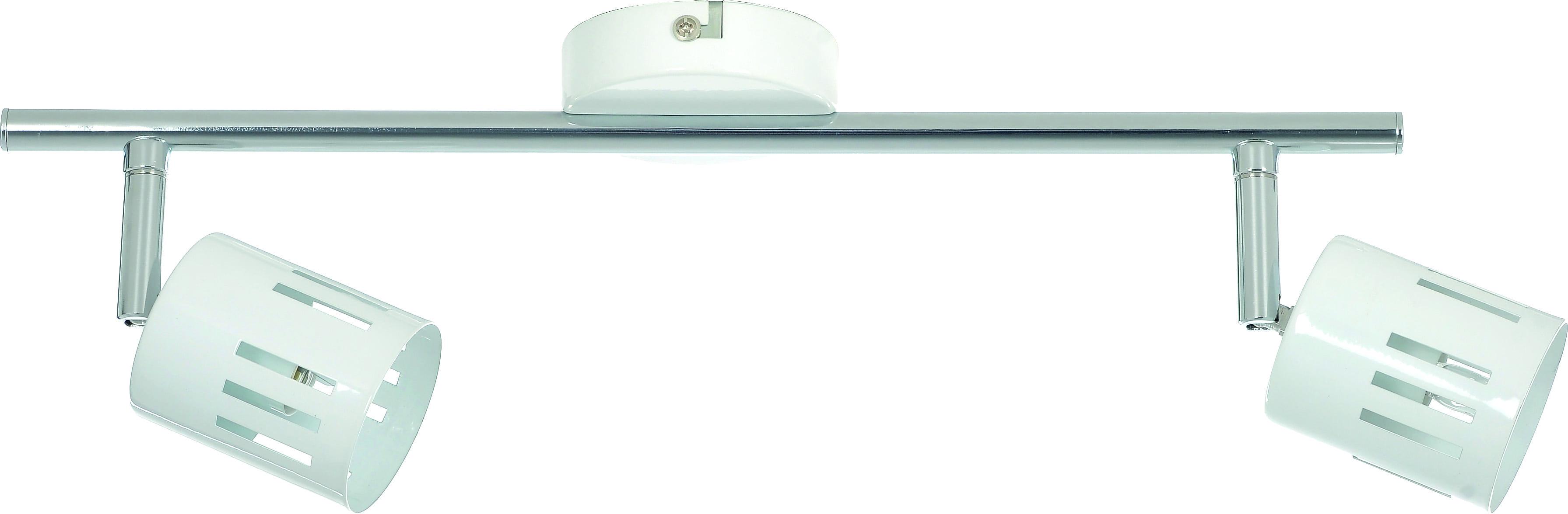 Reflektorki Two-point strip Ulrika biały / chrom G9 28W
