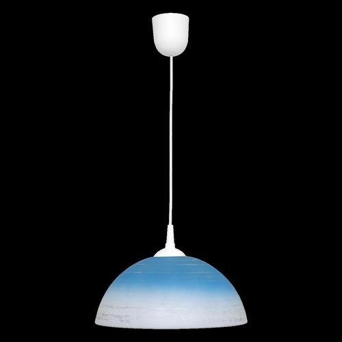 Blue sphere hanging lamp