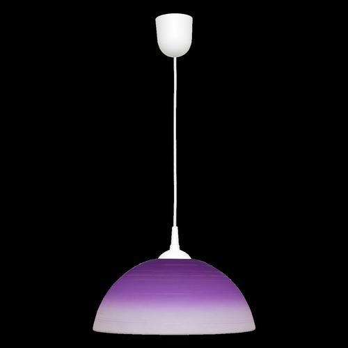 Purple sphere pendant lamp