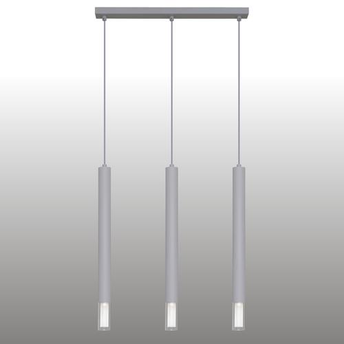 Gray Kuga pendant lamp 3 XL strip
