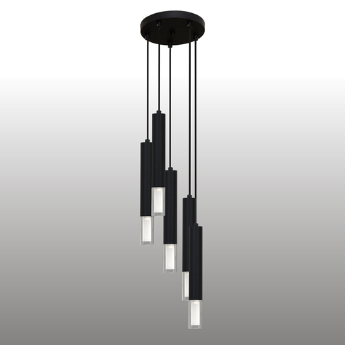 Black Kuga hanging lamp 5 M