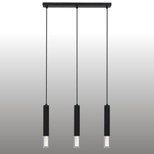 Black Kuga hanging lamp 3 M lath