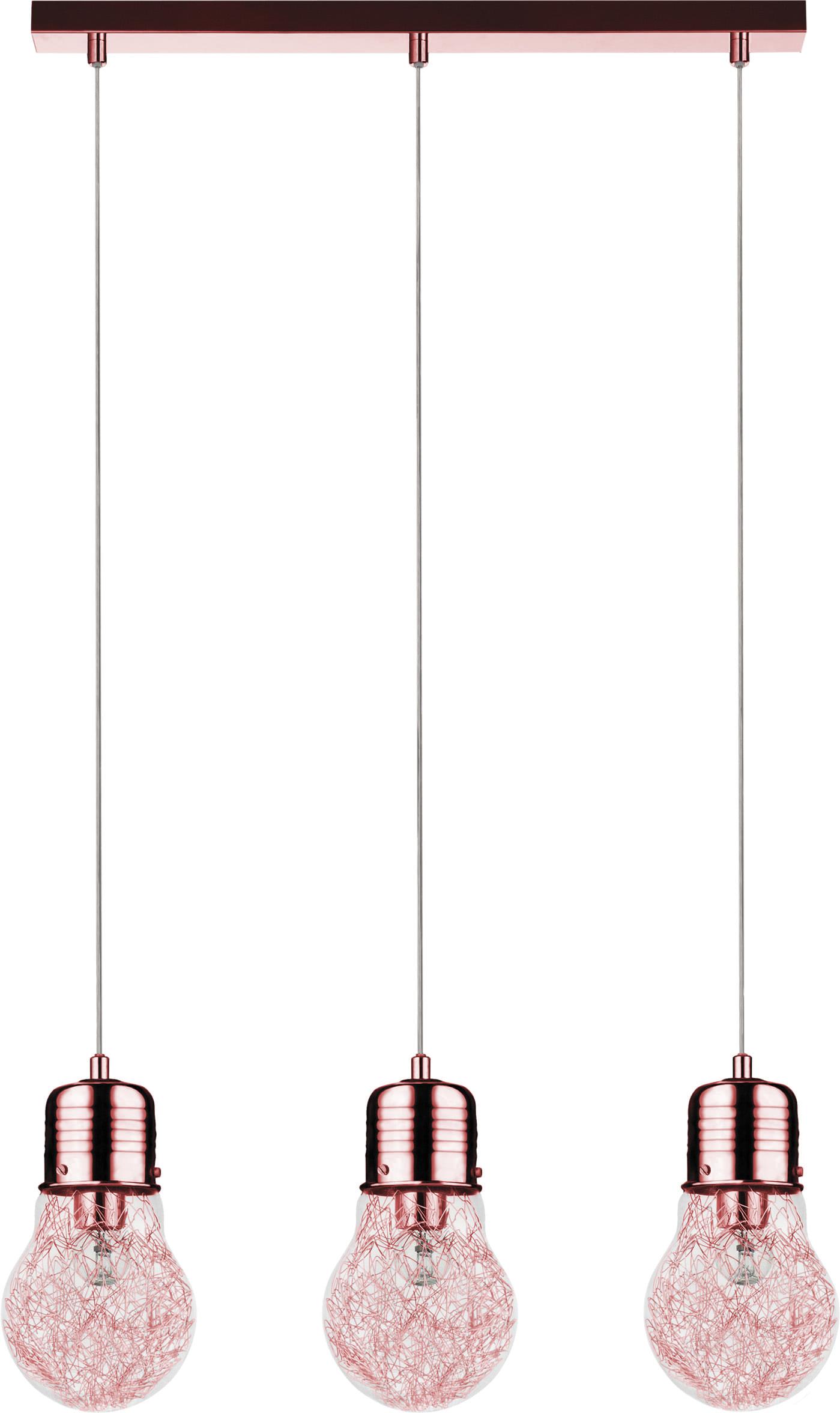 Kanon Hanging lamp Triple Bulb copper E27 60W | Lighting Shop Lunares OJ-93