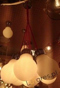 Pendant lamp 7-point Bulb chrome / white E27 60W small 1