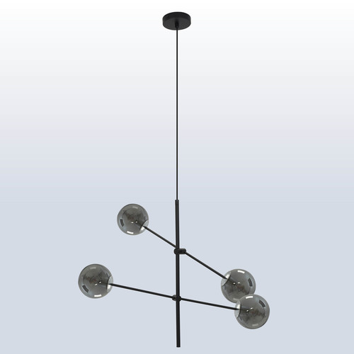 Hanging lamp Rotor 4 dark shade