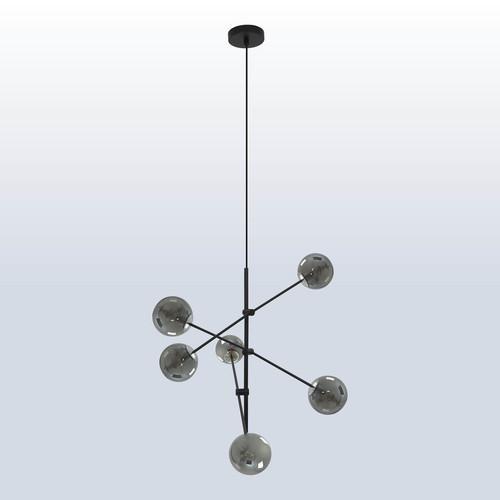 Hanging lamp Rotor 6 dark shade