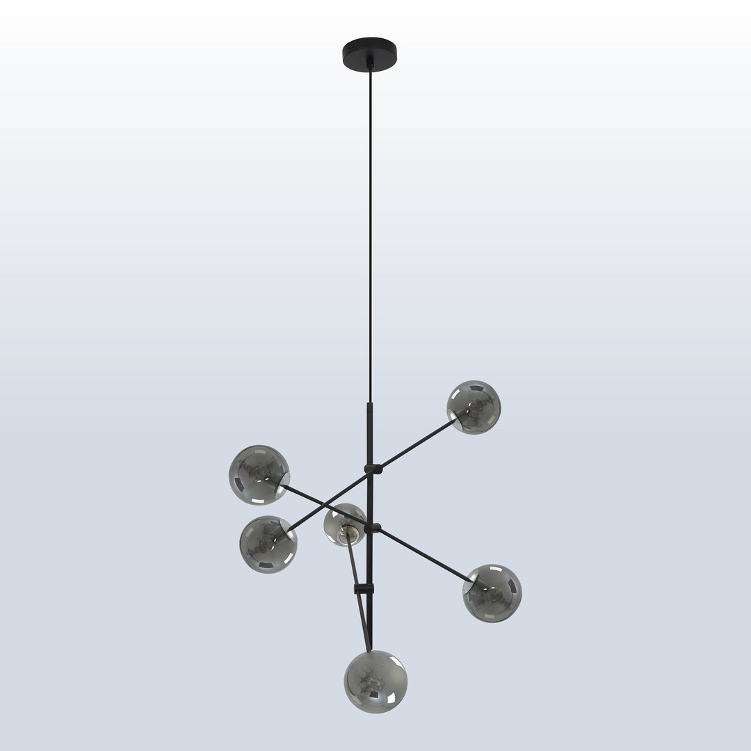 Hanging lamp Rotor 6 dark shade