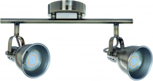 Podwójne Reflektorki-Listwa spot Pax patyna GU10 LED 4,5 W