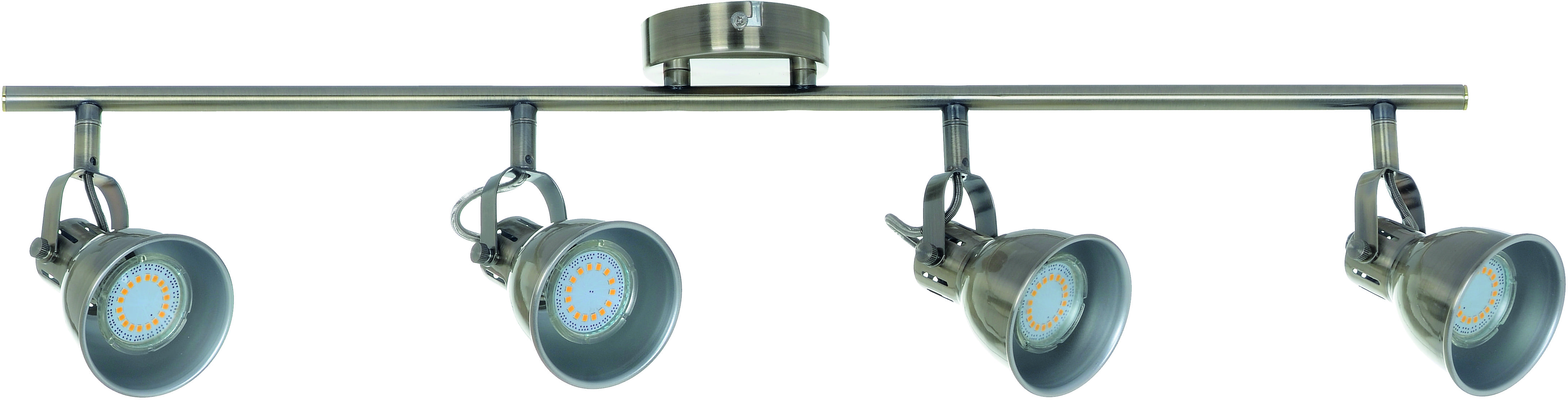Quadruple Spotlights - Strip spot Pax Patina GU10 LED 4,5 W
