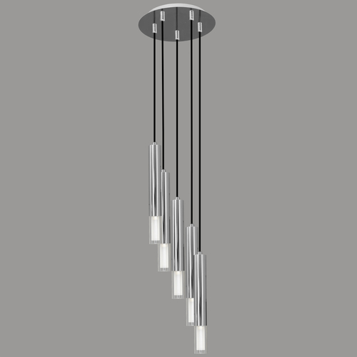 Hanging lamp Kuga 5 M chrome