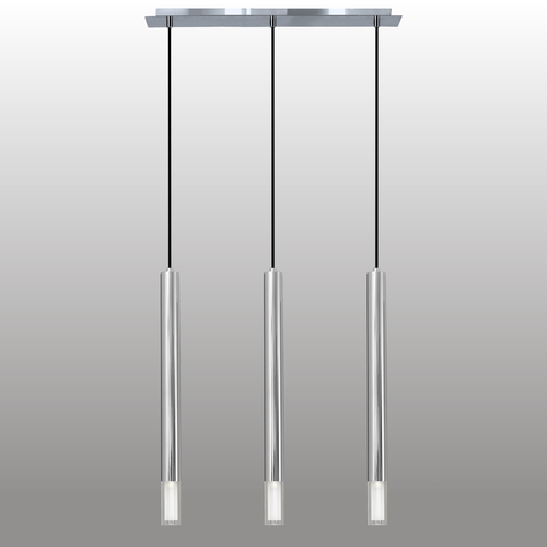 Hanging lamp Kuga 3 Xl chrome strip