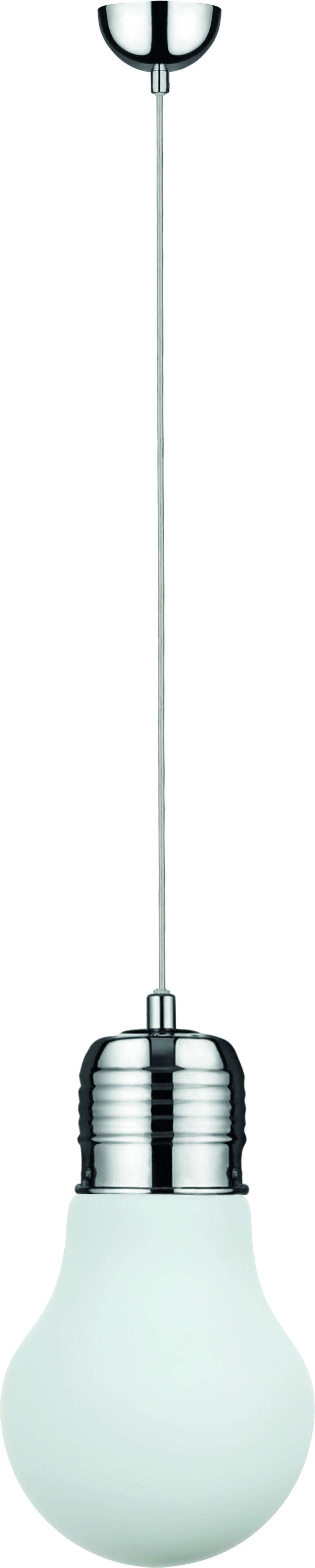 Loftowa Lampa wisząca Bulb chrome / white E27 60W
