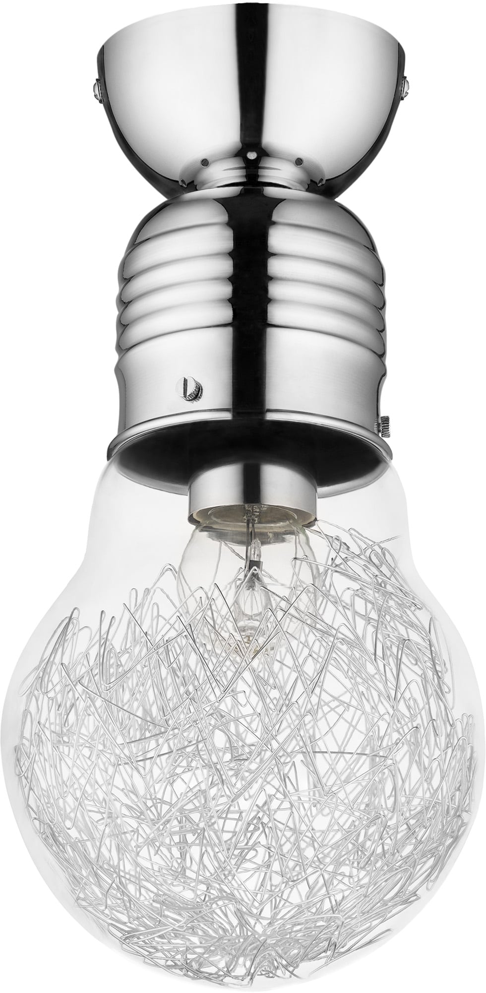 Loft Ceiling lamp Bulb chrome E27 60W
