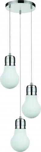 Exclusive Loft Pendant lamp Bulb chrome / white E27 60W