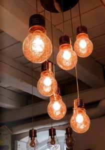 A five-point LIndustrial Hanging Bulb Bulb copper E27 60W small 1