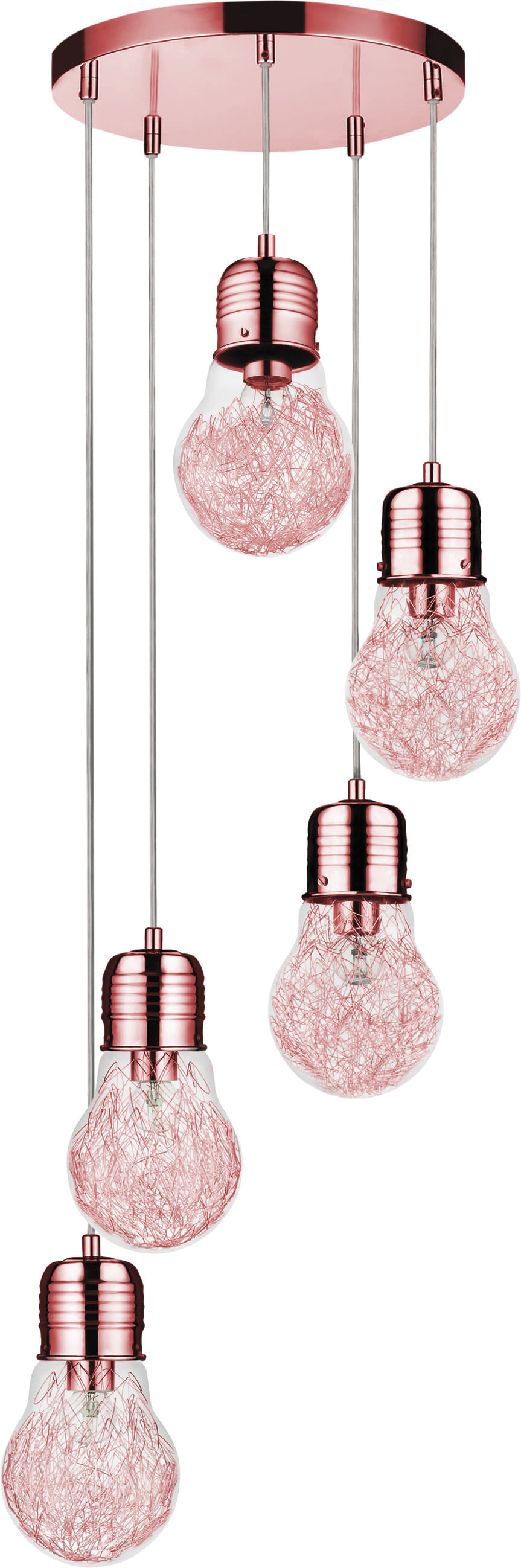 A five-point LIndustrial Hanging Bulb Bulb copper E27 60W