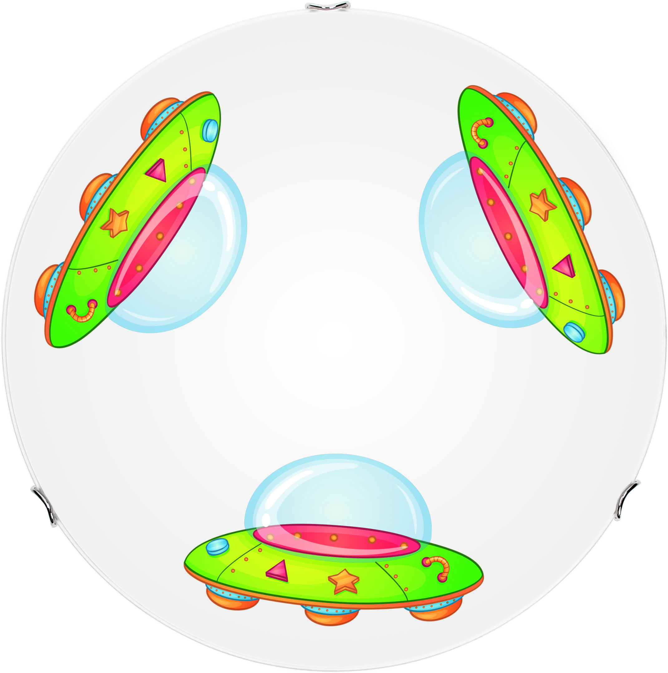 Lamp for a child Ufo - ceiling Mars white / multicolor LED 15W 40cm