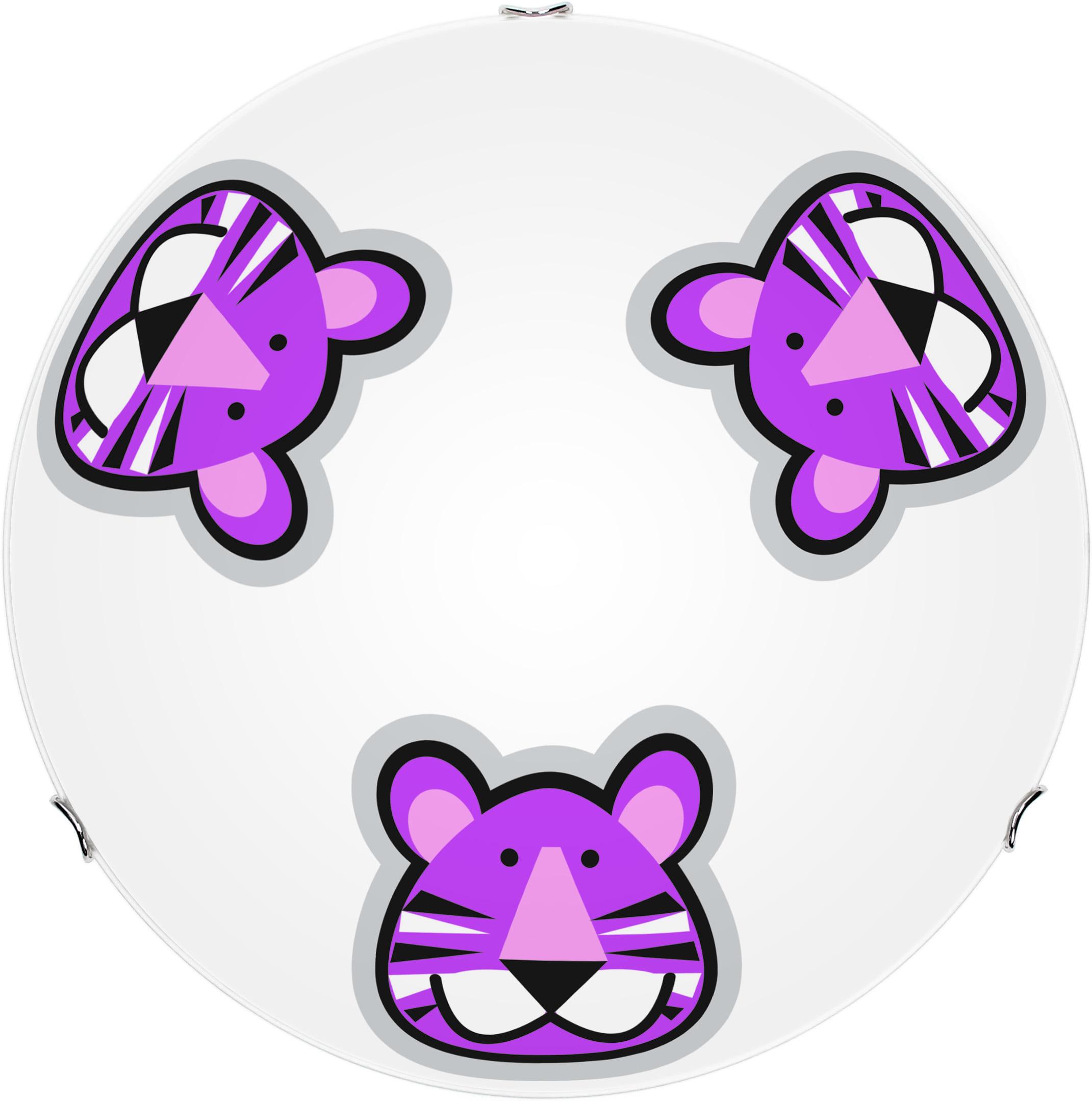 Children's lamp Tygrys - plafon Lenny white / violet E27 60W 30cm