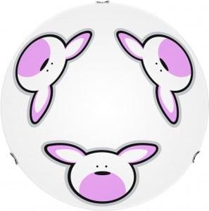Lampa dla dziecka Królik - plafon Rubby biały/ chrom E27 60W 30cm