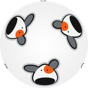 Lampa dla dziecka Piesek - plafon Doggy biały/ chrom 60W E27 30cm