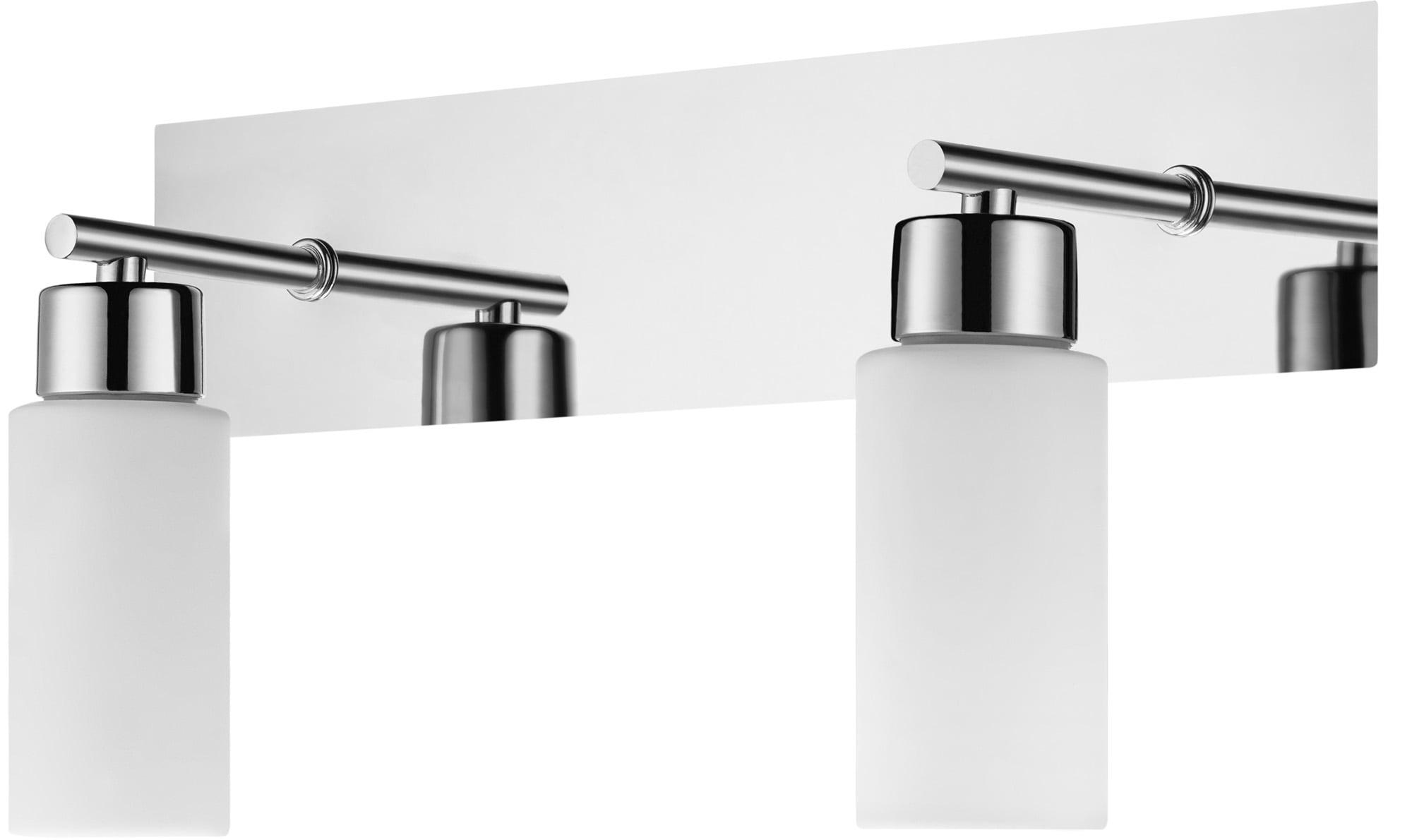 Modern double wall lamp Aquatic chrome / white G9 40W