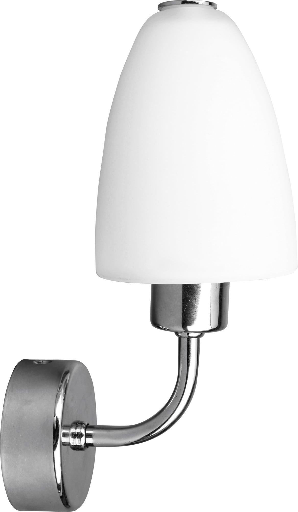 Stylish wall lamp Aquatic chrome / white E14 40W