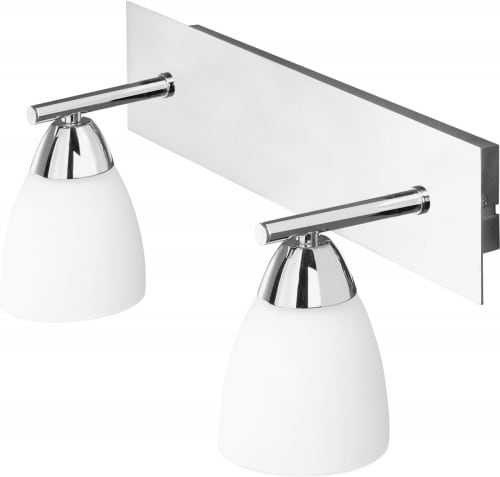 Modern two-point wall lamp Aquatic chrome / white G9 40W