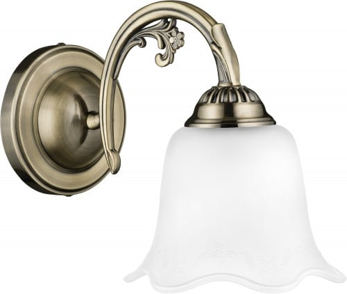 Classic patine wall lamp Dolores patina / white E27 60W
