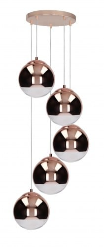 Five-point Hanging Lamp Gino copper E27 60W